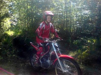 Andreas med ny sykkel.