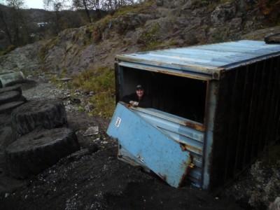 Gammel, rusten konteiner